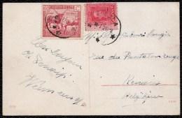 1928 BELGIAN CONGO - PHILATELIC MIXED Congol. & Spanish franking ON CARD FROM BOMA TO RENAIX