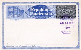 Ganzsache GUATEMALA 1897 - 3 Centavos Ganzsache, Stempel Orreos (Postal Services, Courier) - Guatemala