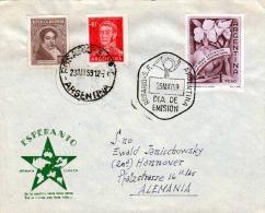 Brief ARGENTINA 1959 - Sehr Schöne 3 Fach Frankierung, 6 Eckige Sonderstempel Rosario Dia De Emision, Auf Briefkuvert ES - Argentinien