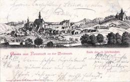 Gruß Aus NEUSTADT An Der Waldnaab 1899 - Ansicht Ende Des 16.Jahrhundert, Gel.1899 V.Neustadt > Muenchen, Runder Numm - Neustadt Waldnaab