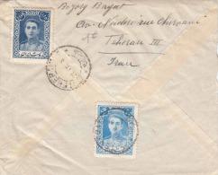 FP-Brief IRAN TEHERAN 1921? - 2 Fach Frankierung, Stempel Teheran > Paris - Iran