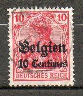 BELGIQUE (Occupation)  10c S 10p Rouge 1914 N°3 - Esercito Tedesco