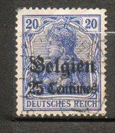 BELGIQUE (Occupation)  25c S 20p Bleu Violet 1914 N°4 - WW I