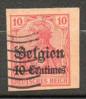 BELGIQUE (Occupation)  10c S 10p Rouge 1914 N°3 - WW I