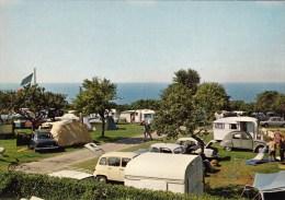 14 - Houlgate : Camping Des Falaises - 2CV Citroën - Caravanes - CPM écrite - Houlgate