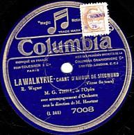 78 Trs  Columbia  7008  25 Cm  état EX  THILL  LA WALKYRIE  CHANT D'AMOUR DE SIEGMUND  WERTHER  J'AURAI SUR MA POITRINE - 78 Rpm - Schellackplatten