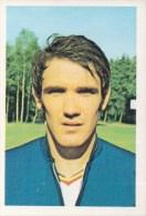 Wilfried Van Moer België Kaartje Chromo (5 X 7cm) Mexico 1970 Coupe Du Monde Voetbal Football Soccer Voetballer - Trading Cards
