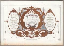 CARTE PORCELAINE +/- 1850 VERLINDE BRUXELLES FABRIQUE PAPIER PORCELEINKAART BRUGES LITHO DAVELUY - Petits Métiers