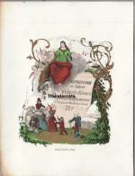 CARTE PORCELAINE +/- 1850 EXPOSITION ET LOTERIE D'OBJETS  ESTAMINET MARCHE GRAINS  PORCELEINKAART DAVELUY BRUGES BRUGGE - Brugge