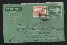 Pakistan 1964 Air Mail Postal Used Aerogramme Cover  Dhow Boats