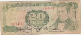 Honduras 20 Lempiras 1991 Pick 65c - Honduras