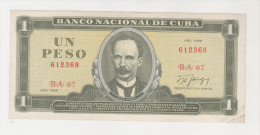 CUBA 1 PESO 1988 UNC P 102 D - Cuba