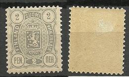 FINLAND 1890 Finnland Michel 27 A Thick Paper * RAR - 1856-1917 Administration Russe