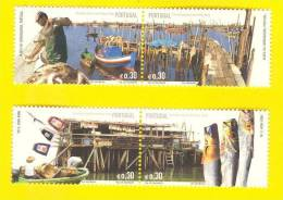 STAMPS PORTUGAL JOINT ISSUE TIMBRES EMISSION COMMUNE HONG KONG CHINA 2005  Fish Boats Boat Fishing Bateaux - 1910-... République