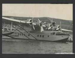 POSTCARD Limited Issue AIRCRAFTCLIPPER PAN AM HORTA FAIAL AZORES AÇORES PORTUGAL - Portugal