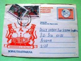 Bophutatswana 1993 Used Pre Paid Card - Flag Arms Cow - Textile Dress Factory - Woman Workerjaguar - Bophuthatswana
