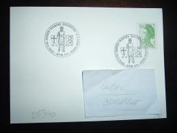 CARTE TP LIBERTE 2,00F OBL. 18-19 JUIN 88 BPM 511 PORTES OUVERTES DETACHEMENT LIPHI DE FRIBOURG DE LA GARNISON FRANCAISE - Marcophilie (Lettres)