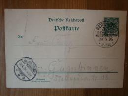 """Alte Ganzsache Mit Sonderstempel""""Gewerbe-Aus Stellung Berlin 29.6.96"""" - Brieven En Documenten"""