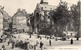 75 Paris L'Eglise Saint Medard Publicite Moutarde Bornibur Au Bon Marche Animée - Distretto: 05