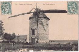 Cpa  CAMP DE CHALONS  Le Vieux Moulin , Café Des Amis  Tres RARE - Camp De Châlons - Mourmelon