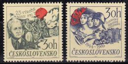 Tchécoslovaquie 1969 N°Y.T. : 1736 Et 1737 ** - Tchécoslovaquie