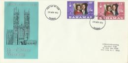 Bahamas 1972 Royal Wedding FDC