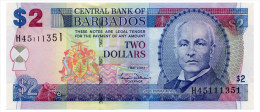 BARBADOS 2 DOLLARS 2007 Pick 66a Unc - Barbados