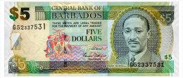 BARBADOS 5 DOLLARS 2007 Pick 67a Unc - Barbados