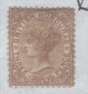 1877 British Honduras - Queen Victoria, 3d. Chestnut Cote £160 Sc #9 SG#13 MLH - Honduras Britannico (...-1970)