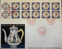Enveloppe 1er JOUR 1990 - CARNET CROIX-ROUGE FRANCAISE - Quimper Le 05 Mai 1990 - En Parfait état - FDC