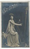 Vive Sainte Cecile Patronne Musique  Harpe Harpist Belle Femme - Prénoms