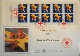 Enveloppe 1er JOUR 1997 - CARNET CROIX-ROUGE FRANCAISE - Paris Le 06 Nov. 1997 - En Parfait état - 1990-1999