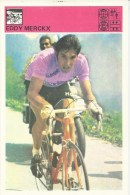 SPORT CARD No 144 - Eddy Merckx, Yugoslavia, 1981., Svijet Sporta, 10 X 15 Cm - Ciclismo