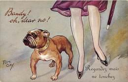 Ref B09- Illustrateur Tom Gay - Chien - Carte Bon Etat - - Cani