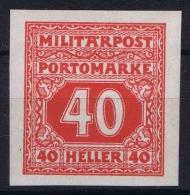 Österreichisch- Bosnien Und Herzegowina Mi. Porto 23  U MH/* - Portomarken