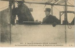 987 Dirigeable Ville De Paris Commandant Bouttieaux Et Mr Kapferer Edit JH - Dirigeables