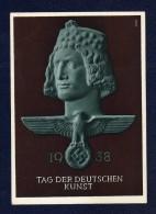DR 1938 , Propaganda - Ganzsache Zum Tag Der Deutschen Kunst, SST München - Cartas