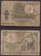 Deutsches Reich , 10 Mark , 1906 , RB-27b , VG - [ 2] 1871-1918 : Impero Tedesco