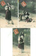 Mignon   Belle Série De 5 Cartes - Femmes