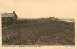 """CPA FRANCE 50 """"Blainville Sur Mer, Un Coin De La Plage"""" - Blainville Sur Mer"""