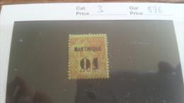 LOT 218087 TIMBRE DE COLONIE MARTINIQUE NEUF* N�3 VALEUR 26 EUROS