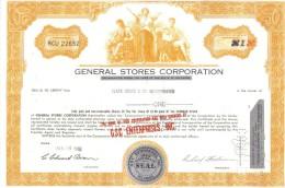 Scripofilia : General Stores Corporation 1 Shares Delaware 1968 Doc.039 - Azioni & Titoli