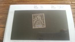 LOT 218164 TIMBRE DE COLONIE GUYANE NEUF(*) N�34 VALEUR 15 EUROS