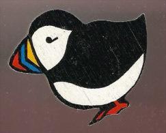 36528-Broche Epingle En Bois.Oiseau.Macareux. - Animaux