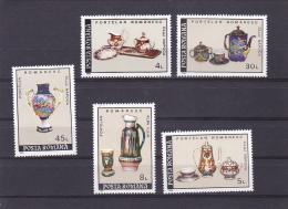 ROMANIAN PORCELAIN,  MI 44771/75, MNH**, 5 STAMPS, 1992, ROMANIA - Unused Stamps