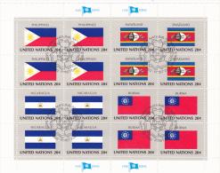 UNITED NATIONS, PHILIPPINES, SWAZILAND, NICARAGUA, BURMA, CANCELATION FDC, MINISHEET - Stamps