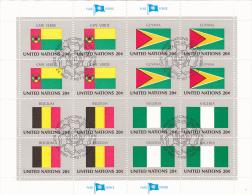 UNITED NATIONS, CAPE VERDE, GUYANA, BELGIUM, NIGERIA, CANCELATION FDC, MINISHEET - Stamps