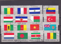 UNITED NATIONS, CANCELATION FDC, LOT 16 STAMPS - Stamps