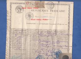 Passeport fran�ais ancien pour l'�tranger Belgique 1926 - Mme Gu�rineau de ROCHEFORT ( Charente inf�rieure ) - Timbre