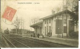 CPA  VILLENAVE D'ORNON, La Gare 10702 - France